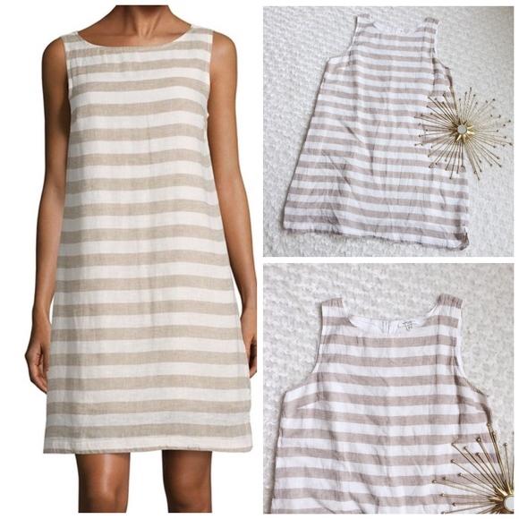 524d5fc232 Beach Lunch Lounge Dresses   Skirts - BLL Linen Sleeveless Stripe Dress XL